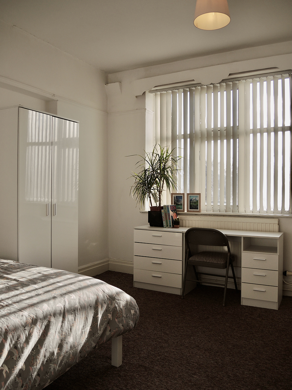 Typical Room at Carfax Court Flats
